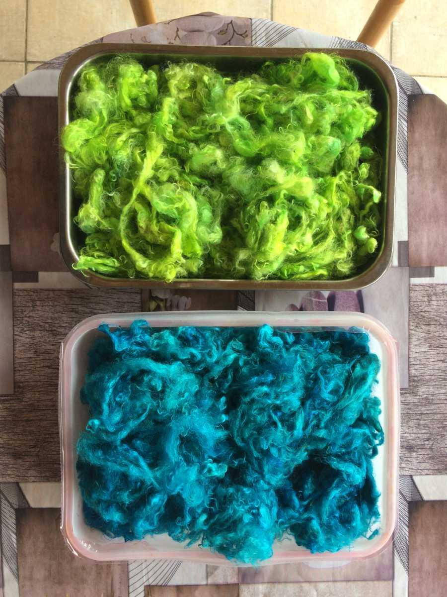 teinture laine mohair