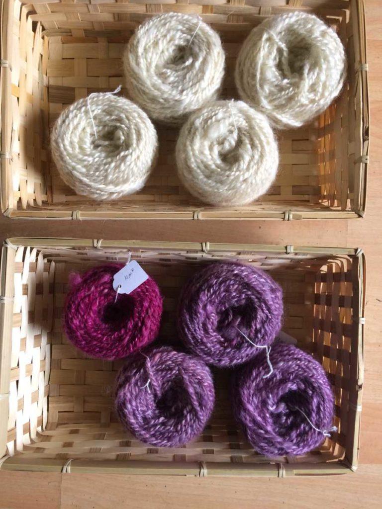 pelotes laine mohair fait main